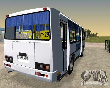 Паз 3205 Дзержинск для GTA San Andreas вид сзади слева