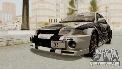 Mitsubishi Lancer Evolution VI Tenryuu Itasha для GTA San Andreas вид справа