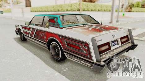 GTA 5 Dundreary Virgo Classic Custom v2 для GTA San Andreas вид сверху