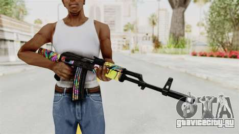 AK-47 Cannabis Camo для GTA San Andreas третий скриншот