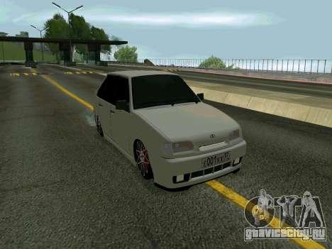 VAZ 2114 KBR для GTA San Andreas вид сзади слева