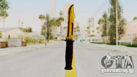 Knife Gold для GTA San Andreas