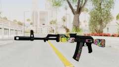 AK-47 Cannabis Camo для GTA San Andreas