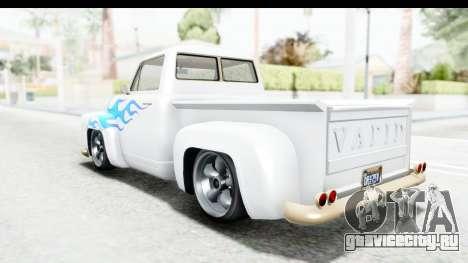 GTA 5 Vapid Slamvan Custom IVF для GTA San Andreas колёса
