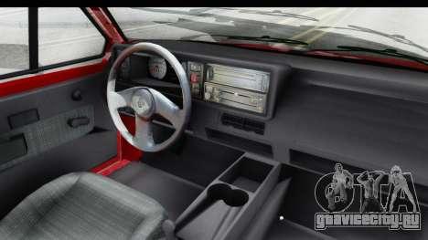 Volkswagen Golf Citi 1.8 1998 для GTA San Andreas вид изнутри