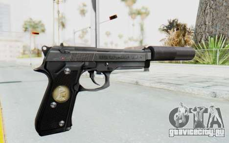 Tariq Iraqi Pistol Back v1 Silver Silenced для GTA San Andreas второй скриншот