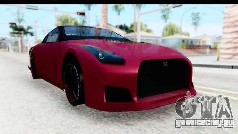 Nissan GT-R R35 Top Speed для GTA San Andreas вид справа
