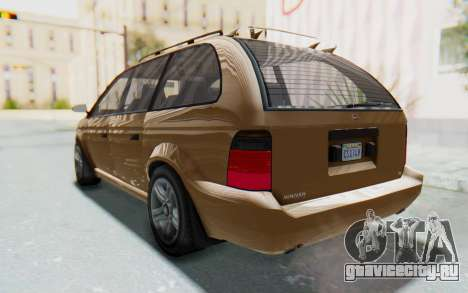 GTA 5 Vapid Minivan для GTA San Andreas вид справа