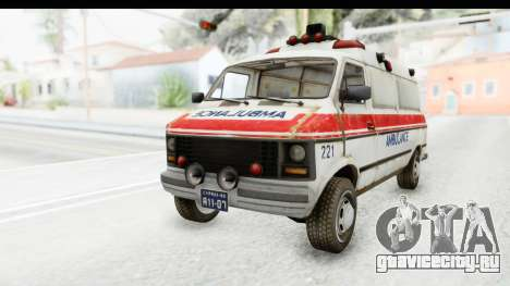 MGSV Phantom Pain Ambulance для GTA San Andreas вид сзади слева