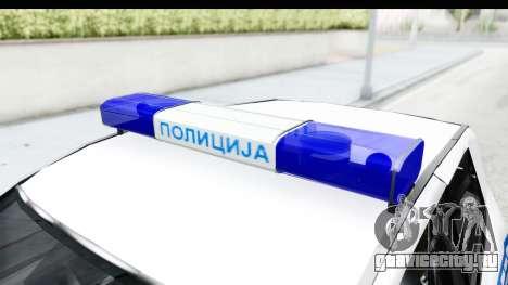 Fiat Punto Mk2 Policija для GTA San Andreas вид изнутри