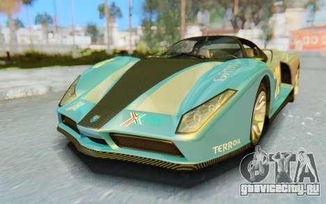 GTA 5 Grotti Cheetah IVF для GTA San Andreas вид снизу