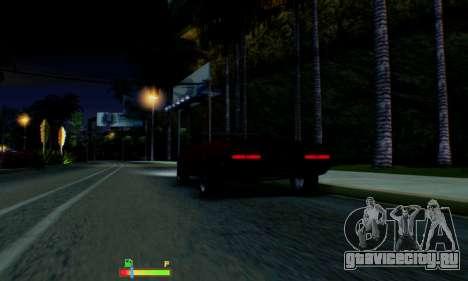 Chevrolet 369 Camaro SS для GTA San Andreas вид снизу