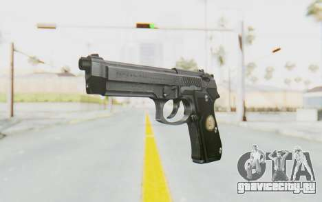 Tariq Iraqi Pistol Back v1 Silver для GTA San Andreas