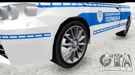 Fiat Punto Mk2 Policija для GTA San Andreas вид сзади