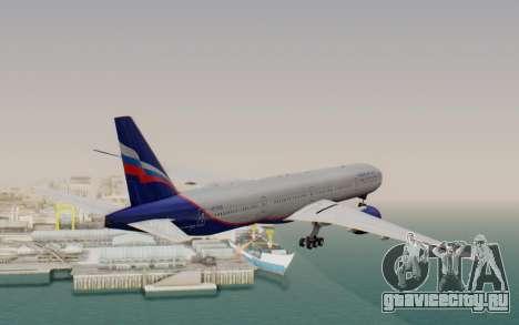 Boeing 777-300ER Aeroflot для GTA San Andreas вид справа
