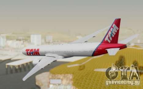 Boeing 777-300ER TAM Linhas Aéreas для GTA San Andreas вид справа