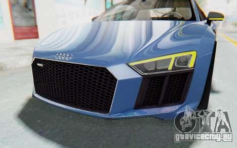 Audi R8 2017 для GTA San Andreas вид сверху