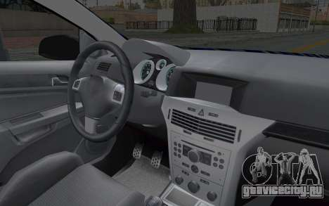 Opel Astra для GTA San Andreas вид изнутри