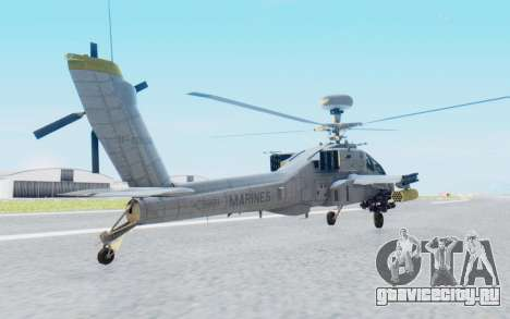 AH-64 Apache Marines для GTA San Andreas вид слева