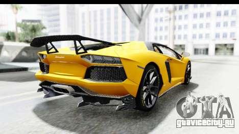 Lamborghini Aventador LP700-4 LB Walk для GTA San Andreas вид слева