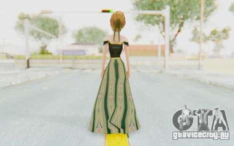 Frozen - Anna Coronation Dress для GTA San Andreas третий скриншот