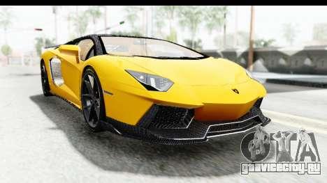 Lamborghini Aventador LP700-4 LB Walk для GTA San Andreas вид сзади