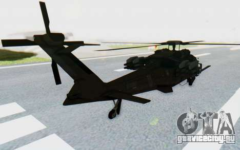 MGSV Phantom Pain UTH-66 Blackfoot для GTA San Andreas вид слева