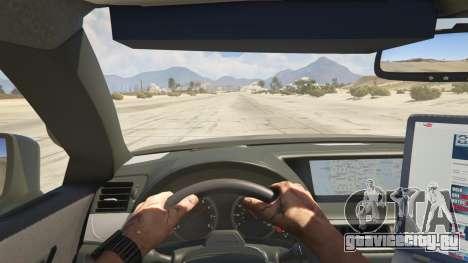 Lexus GS 350 Hot Pursuit Police для GTA 5 вид сзади справа