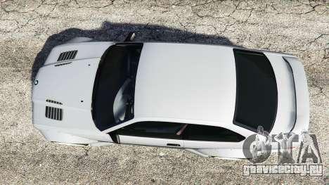 BMW M3 (E36) Street Custom для GTA 5 вид сзади