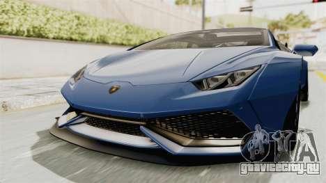 Lamborghini Huracan Stance Style для GTA San Andreas вид справа