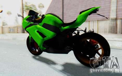Kawasaki Ninja 250 Abs Streetrace для GTA San Andreas вид сзади слева