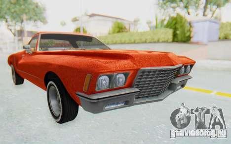 Buick Riviera 1972 Boattail Lowrider для GTA San Andreas вид справа