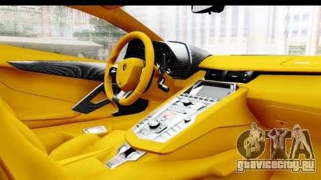 Lamborghini Aventador LP700-4 LB Walk для GTA San Andreas вид сбоку