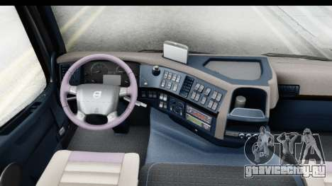 Volvo FMX Euro 5 v2.0.1 для GTA San Andreas вид изнутри