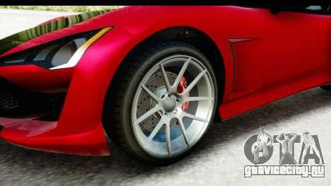 GTA 5 Lampadati Furore GT IVF для GTA San Andreas вид сзади