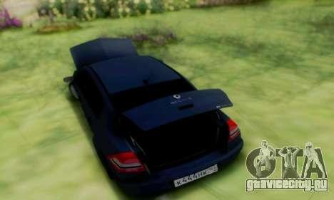 Renault Megane 2004 для GTA San Andreas вид сзади