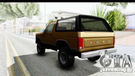Ford Bronco 1980 Roof IVF для GTA San Andreas вид справа
