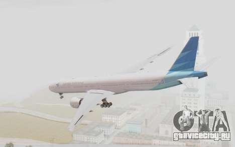 Boeing 777-300ER Garuda Indonesia для GTA San Andreas вид слева