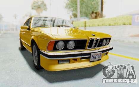 BMW M635 CSi (E24) 1984 HQLM PJ2 для GTA San Andreas вид сзади слева
