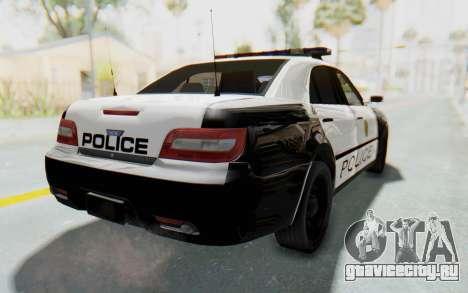 ASYM Desanne XT Pursuit v3 для GTA San Andreas вид слева