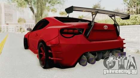 Toyota GT86 Drift Edition для GTA San Andreas вид слева