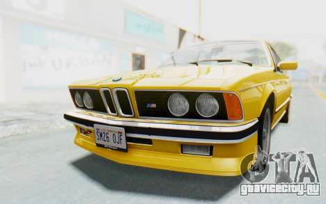 BMW M635 CSi (E24) 1984 HQLM PJ2 для GTA San Andreas