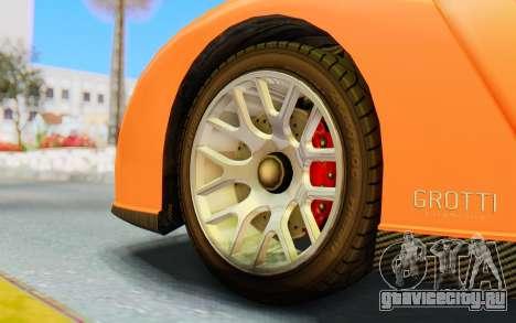 GTA 5 Grotti Cheetah IVF для GTA San Andreas вид сзади