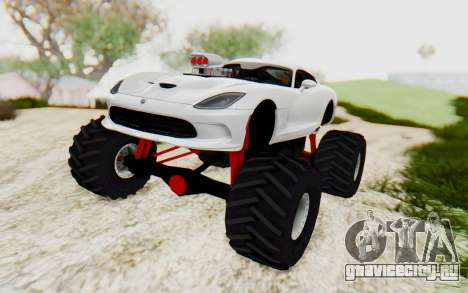 Dodge Viper SRT GTS 2012 Monster Truck для GTA San Andreas