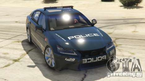 Lexus GS 350 Hot Pursuit Police для GTA 5 вид сзади