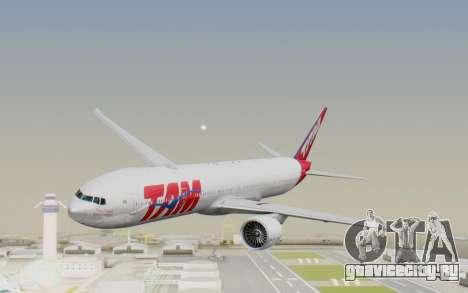 Boeing 777-300ER TAM Linhas Aéreas для GTA San Andreas вид сзади слева