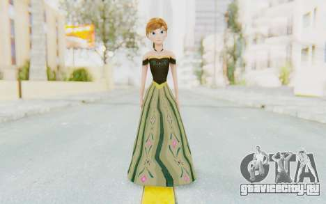 Frozen - Anna Coronation Dress для GTA San Andreas второй скриншот