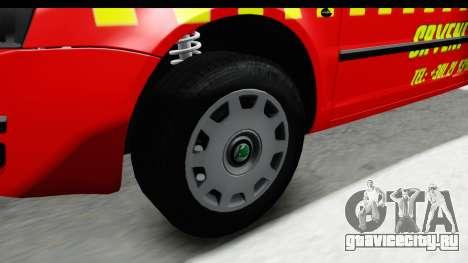Škoda Superb Crveni Taxi для GTA San Andreas вид сзади