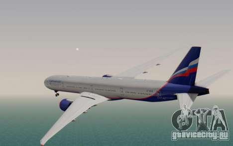 Boeing 777-300ER Aeroflot для GTA San Andreas вид слева