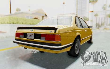 BMW M635 CSi (E24) 1984 HQLM PJ2 для GTA San Andreas вид слева